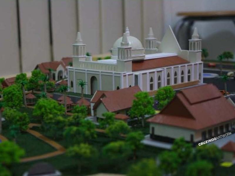 3D MODELLING - MAKET Gereja Lamandau - KALIMANTAN (1)