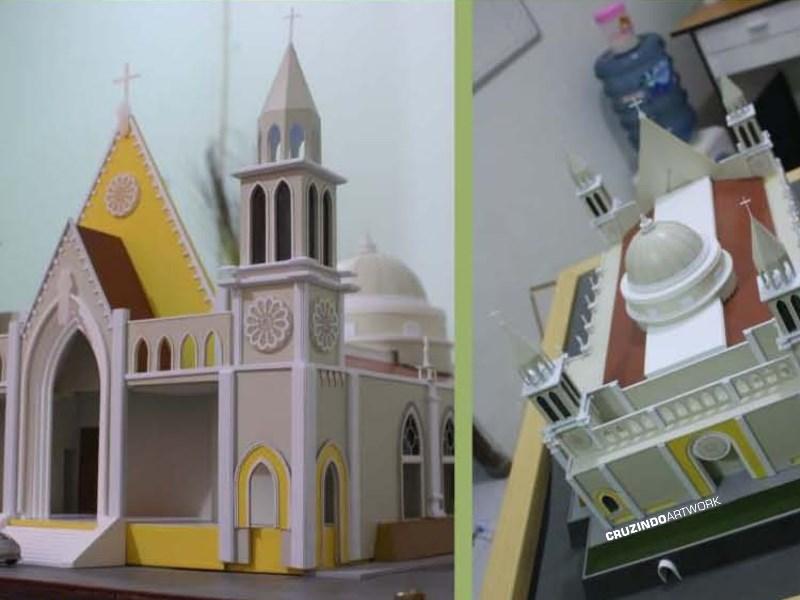 3D MODELLING - MAKET Gereja Lamandau - KALIMANTAN (3)