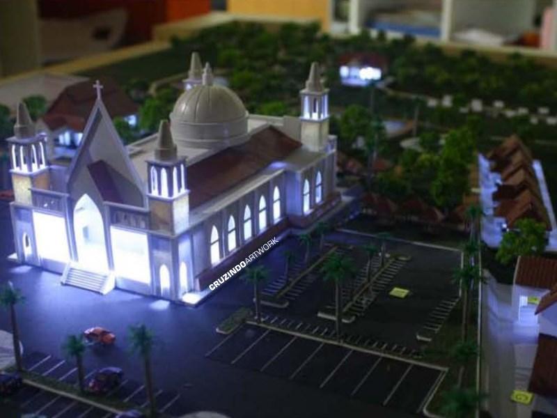 3D MODELLING - MAKET Gereja Lamandau - KALIMANTAN (4)