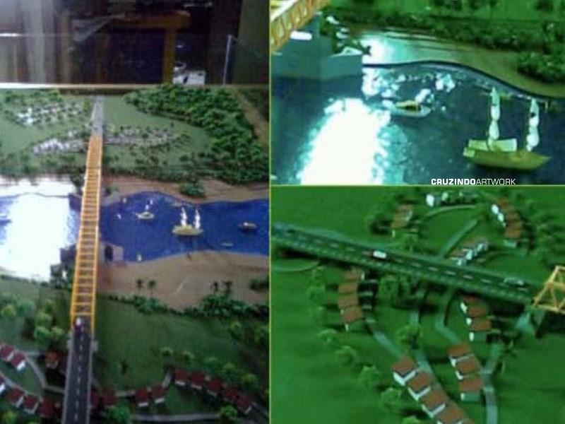 3D MODELLING - MAKET Jembatan Sukamara Jelai - KALIMANTAN TENGAH