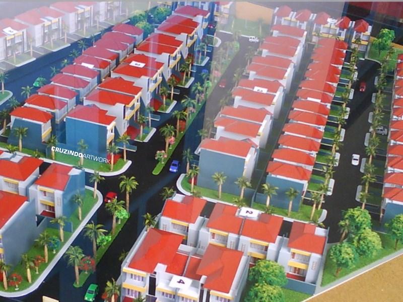3D MODELLING - MAKET Kawasan Perumahan Palm Mas Residence - KENDARI