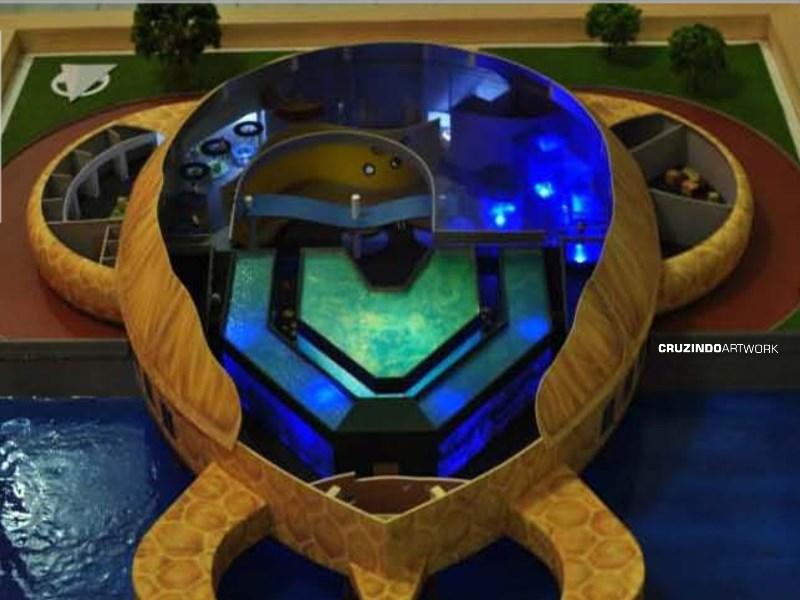 3D MODELLING - MAKET 'Kura-kura' Ocean Park - JEPARA