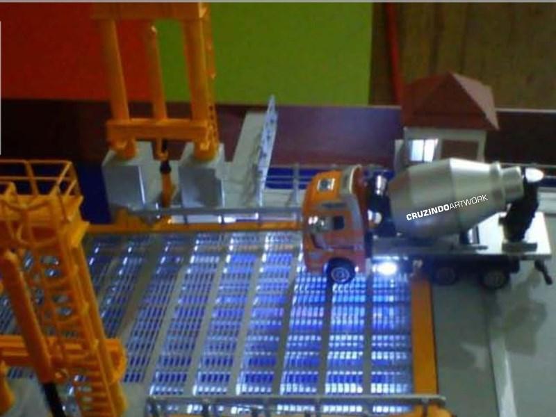 3D MODELLING - MAKET Movable Bridge - JAKARTA