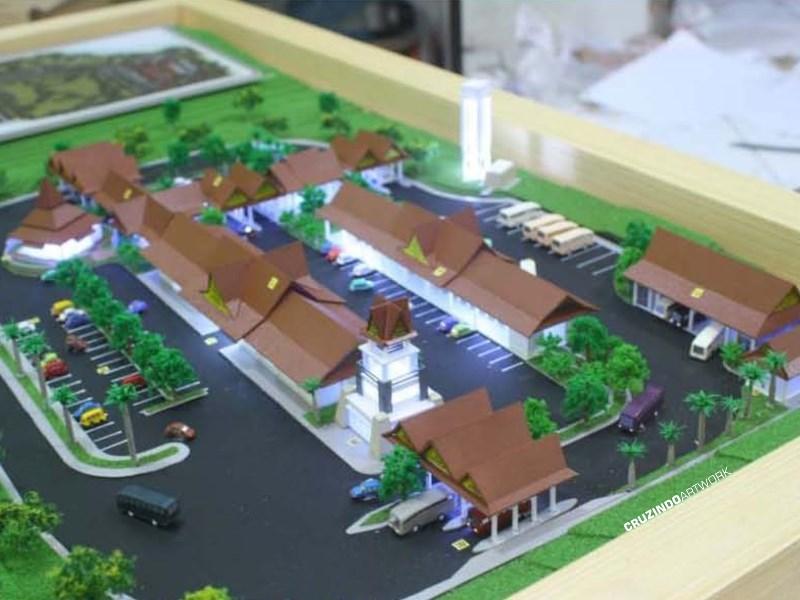 3D MODELLING - MAKET Terminal Lamandau - KALIMANTAN