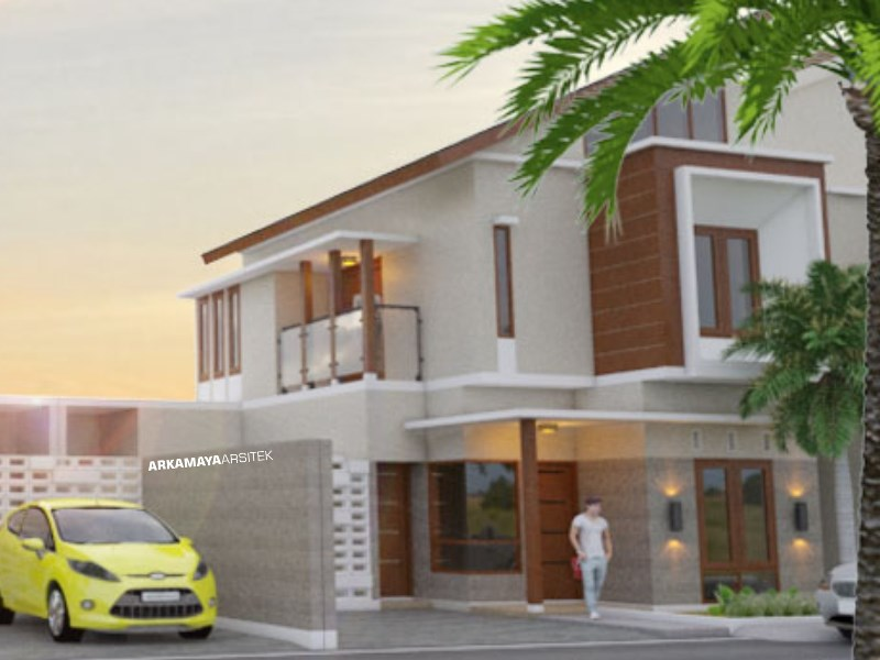 JASA ARSITEK JAKARTA - Proyek Desain Rumah Tinggal Bertingkat 120m2 - Bpk. Steve Morgan JAKARTA - Jasa Desain Bangun Rumah - Arkamaya Arsitek Kontraktor Jogja (2)