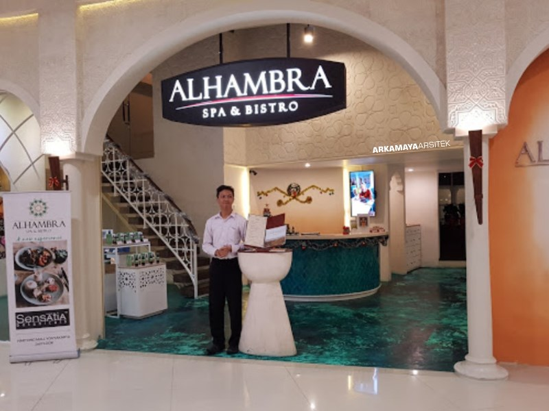 KONTRAKTOR INTERIOR - Proyek Desain & Pelaksanaan Interior ALHAMBRA Spa-Bistro 2 Lantai - Mr. Waqqas Hartono Mall JOGJA (1)