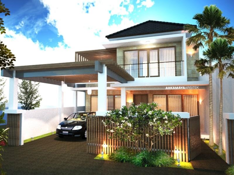 JASA ARSITEK BONTANG - Proyek Desain Rumah Tinggal Bertingkat 388m2 - Bpk. Nur Sahid BONTANG - Jasa Desain Bangun Rumah - Arkamaya Arsitek Kontraktor Jogja