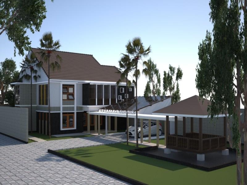 JASA ARSITEK JOGJA - Proyek Desain Rumah Tinggal Bertingkat 210m2 - Bpk. Arief Munandar SLEMAN - Jasa Desain Bangun Rumah - Arkamaya Arsitek Kontraktor Jogja