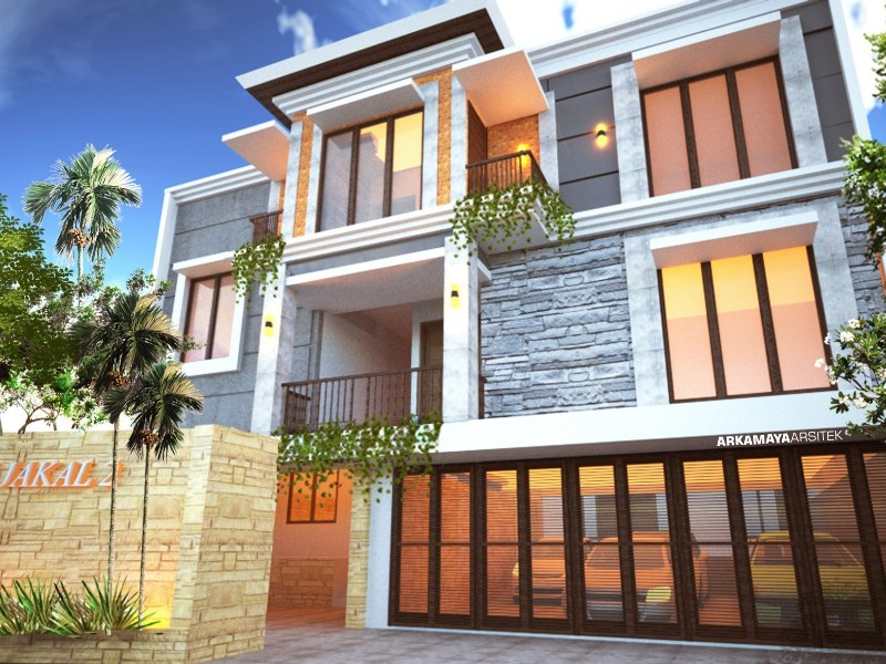 JASA ARSITEK JOGJA - Proyek Desain Rumah Tinggal Bertingkat dan Kost 465m2 - Bpk. Busman Tediosran Qatar SLEMAN - Jasa Desain Bangun Rumah - Arkamaya Arsitek Kontraktor Jogja