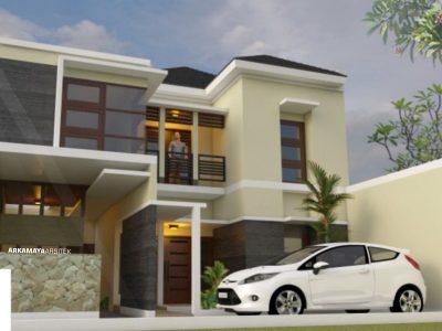 JASA ARSITEK BANDUNG - Proyek Desain Rumah Tinggal Bertingkat 255m2 - Bpk. Hanung Setyanto BANDUNG - Jasa Desain Bangun Rumah - Arkamaya Arsitek Kontraktor Jogja