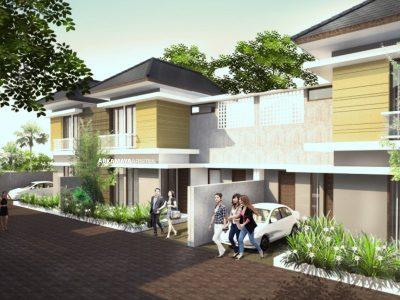 JASA ARSITEK YOGYAKARTA - Proyek Desain Perumahan Rumah Bertingkat 110m2 - Bpk. Anang Sugiyono SLEMAN - Jasa Desain Bangun Rumah - Arkamaya Arsitek Kontraktor Jogja (1)